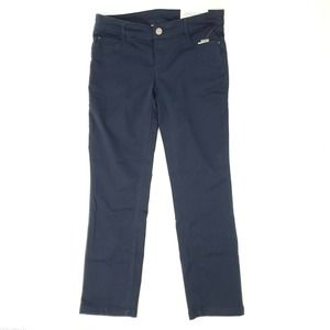 Tapered Straight Fit Mid Rise Pants